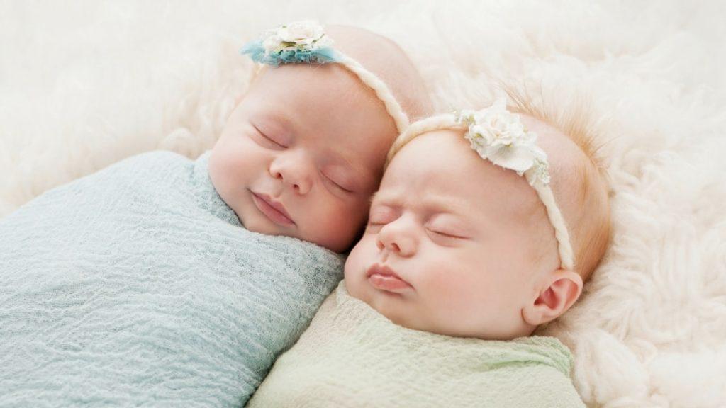Newborn Twins Sleeping - Twins & More