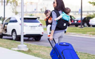 Tips for traveling long haul with twin babies
