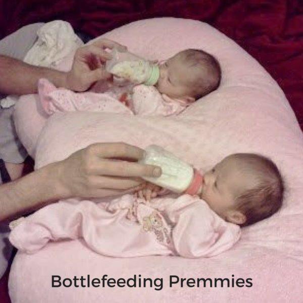 Twin Z Pillow Bottlefeeding Premature Twins