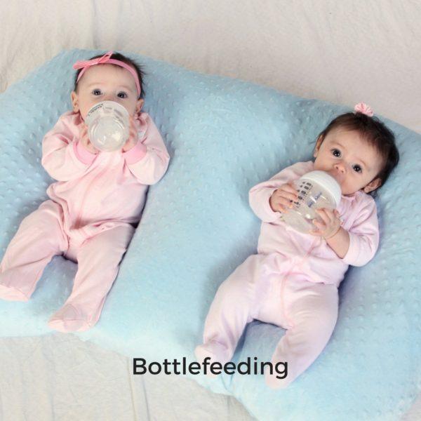 Twin Z Pillow self bottlefeeding twins