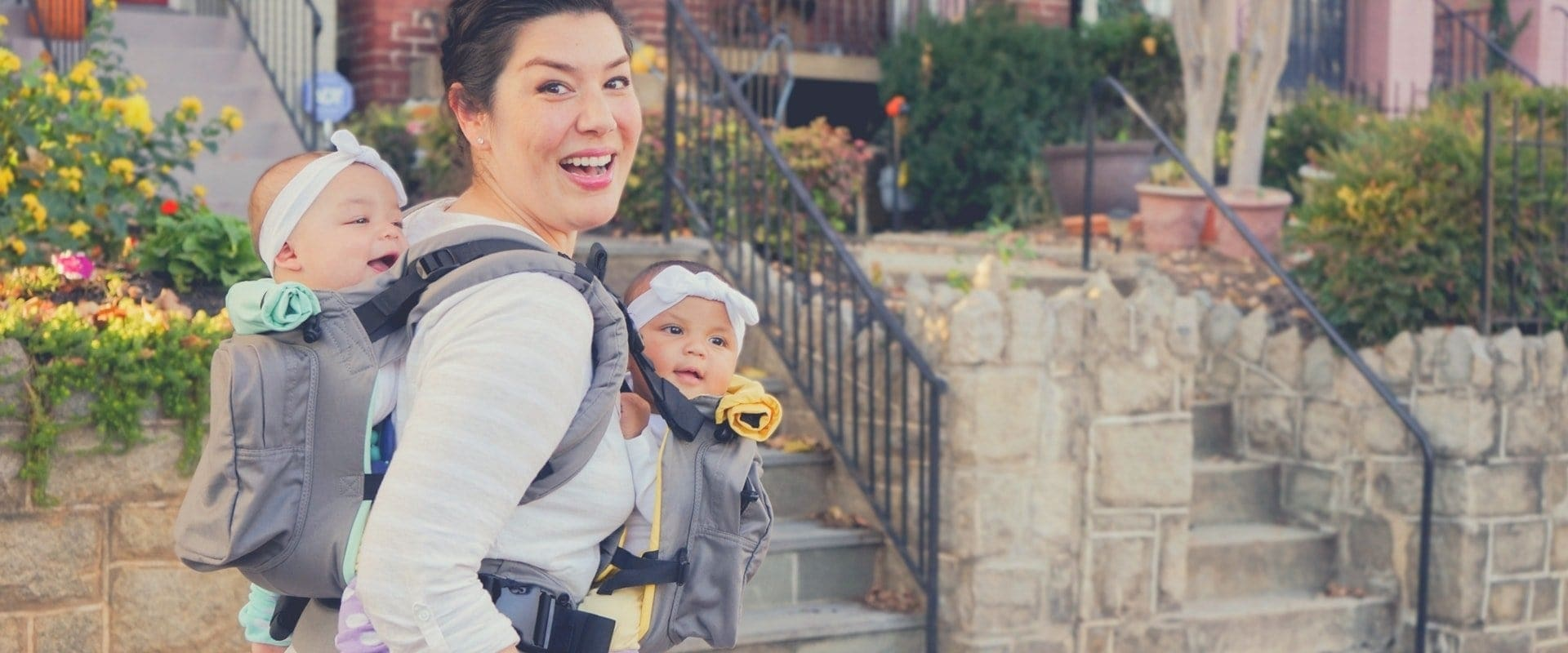 Twingo Carrier - Twin Baby Carrier - Twins & More Header image