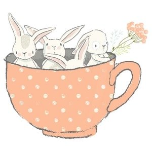 Twins & More Bunnies in Cup