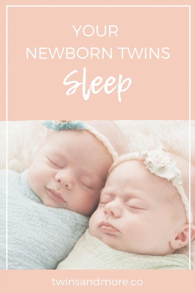 Your Newborn Twins - Sleep. Pinterest Image