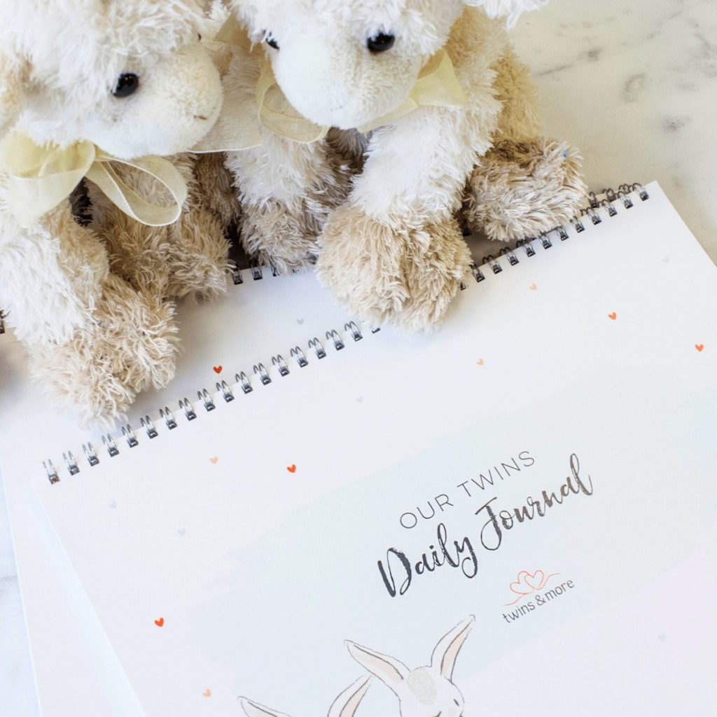 Twin Baby Gear - Our Twins Daily Journal Product Shot - Twins & More