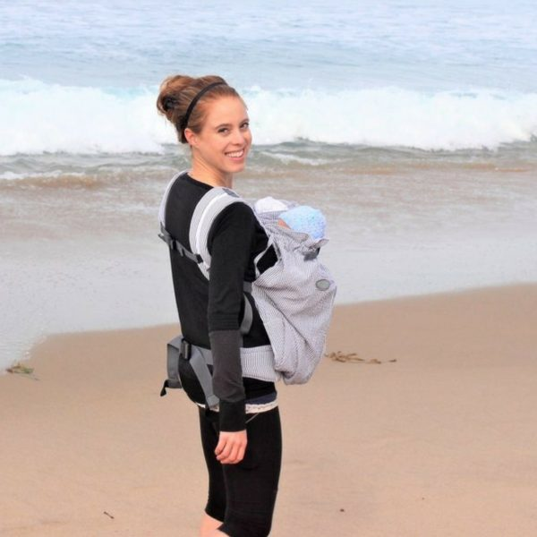 Weego Twin Carrier Mom Carrying Twins at Beach