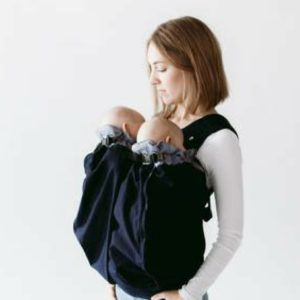 Weego Twin Carrier - Navy close up - Twin Baby Carrier - Twins & More