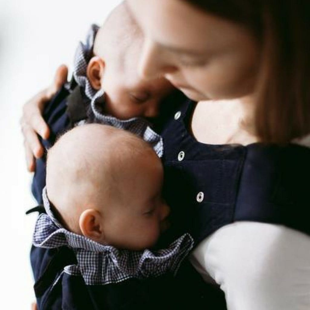 Nurturing Baby Twins in a Weego Twin Carrier